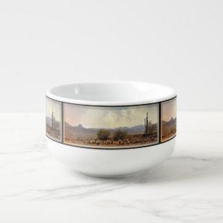Nouvelle tasse de soupe à paysage de rivière