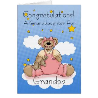Nouvelles félicitations de bébé de grand-papa carte de vœux
