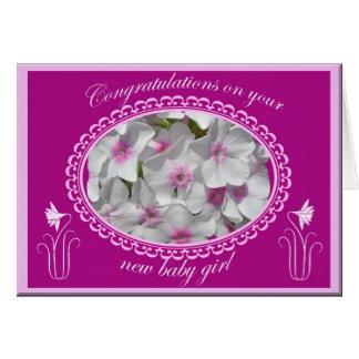 Nouvelles félicitations de bébé de Phlox Carte De Vœux