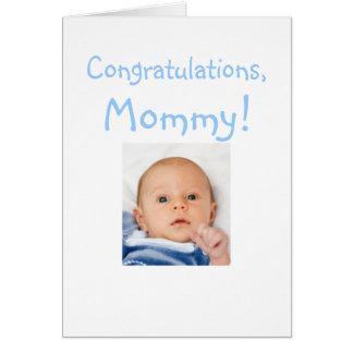 Nouvelles félicitations de maman de bébé carte de vœux