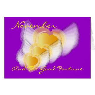 Novembre et la bonne chance ! - Customisé Carte De Vœux