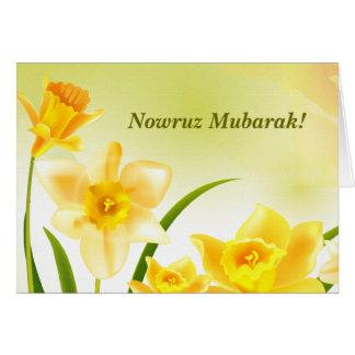 Nowruz Mubarak. Carte personnalisable persane de
