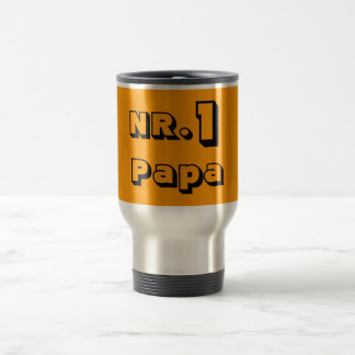 NR.1 le Papa thermo boude Mug De Voyage En Acier Inoxydable