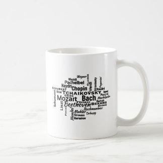 Nuage classique de mot de compositeurs mug