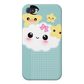 Nuage de Kawaii et étoiles mignonnes Étui iPhone 4/4S