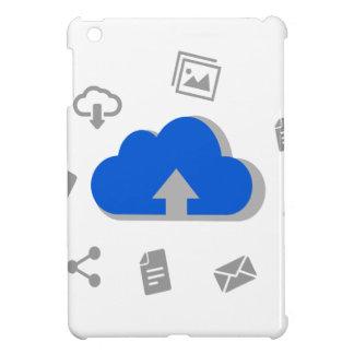Nuage de montée à internet avec des icones coques pour iPad mini