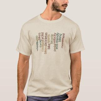 nuage de mot de bicyclette t-shirt