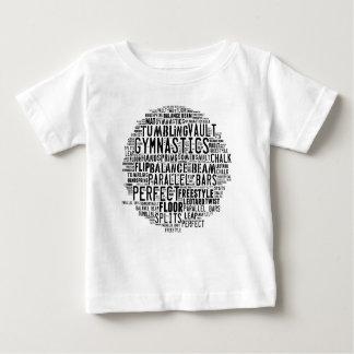 Nuage de mot de gymnastique dégringolant t-shirt pour bébé