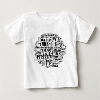 Nuage de mot de gymnastique t-shirt pour bébé