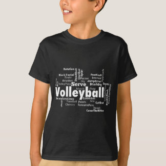 Nuage de mot de volleyball t-shirt