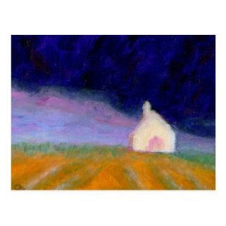 Nuage de tempête au-dessus de terre, carte postale