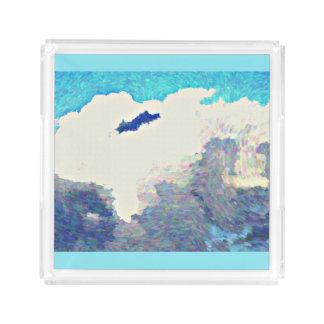 Nuages de mousson dans le plateau acrylique de