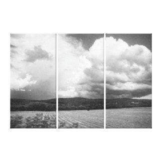 Nuages du Vermont et triptyque noir et blanc de Toile