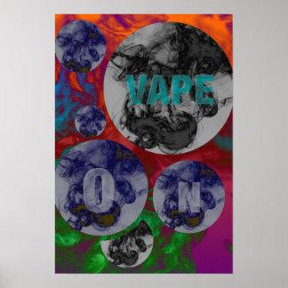 Nuages psychédéliques fluorescents de Vape Poster