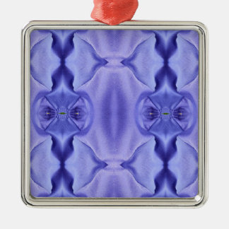 Nuances assez chics de motif de lavande ornement carré argenté
