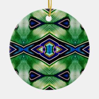 Nuances assez riches de lavande vert-bleu ornement rond en céramique
