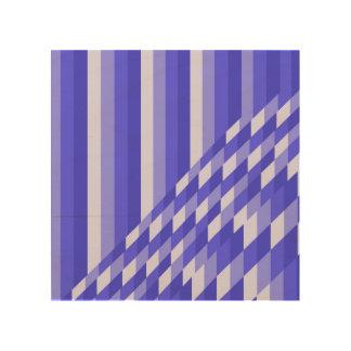 nuances bleues impression sur bois