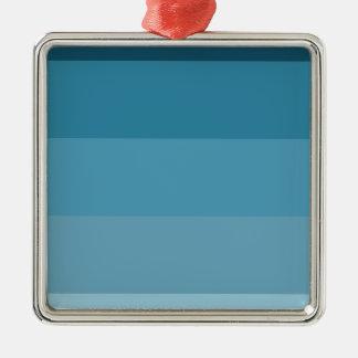 Nuances de bleu ornement carré argenté