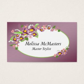 Nuances des cartes violettes de rendez-vous