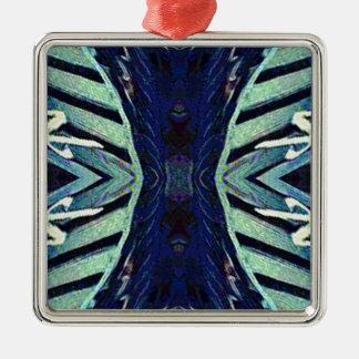 Nuances géniales fraîches de conception d'abrégé ornement carré argenté