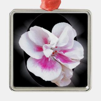 Nuances roses ornement carré argenté