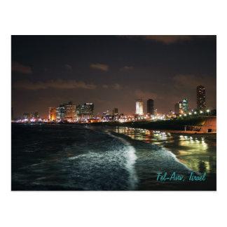 Nuit à Tel Aviv, Israël Carte Postale