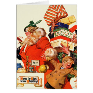 Nuit avant Noël Carte