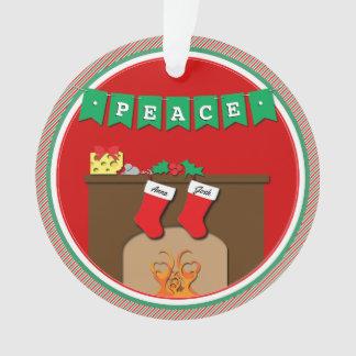 Nuit avant Noël embrassant des souris • 2 bas