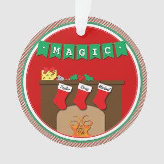 Nuit avant Noël embrassant des souris • 3 bas