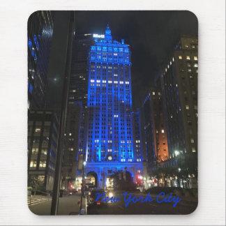 Nuit d'architecture de gratte-ciel de New York Tapis De Souris