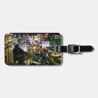 Nuit et jour de vue de bande de Las Vegas Étiquette Pour Bagages