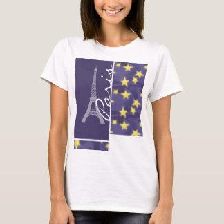 Nuit étoilée de Paris ; Tour Eiffel T-shirt