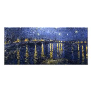 Nuit étoilée de Van Gogh   au-dessus du Rhône   Modèle De Double Carte