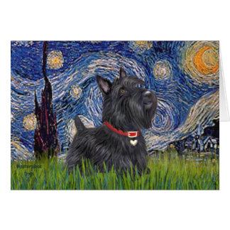 Nuit étoilée - écossais Terrier 6 Carte