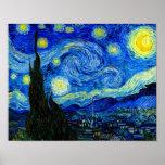 Nuit étoilée par la copie d'affiche de beaux-arts