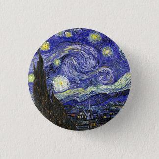 Nuit étoilée par Vincent van Gogh Badge Rond 2,50 Cm
