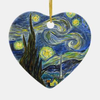 Nuit étoilée, Van Gogh Ornement Cœur En Céramique