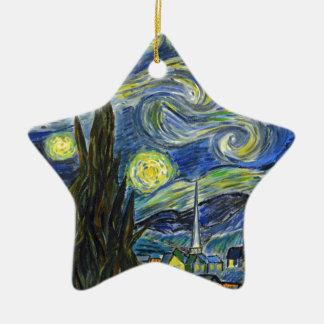 Nuit étoilée, Van Gogh Ornement Étoile En Céramique
