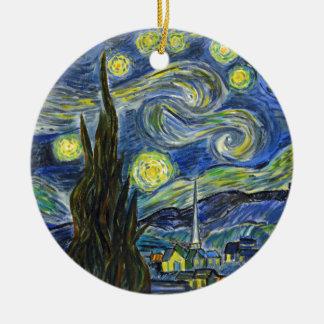 Nuit étoilée, Van Gogh Ornement Rond En Céramique