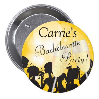 Nuit jaune de filles de diva de Bachelorette Badge Rond 7,6 Cm