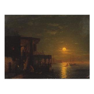Nuit lunaire à la mer par Ivan Aivazovsky Carte Postale