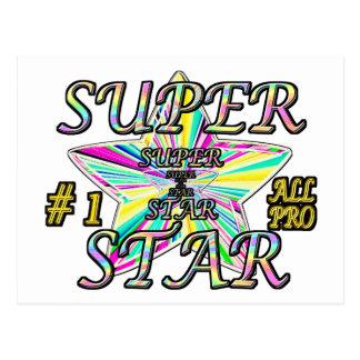 Numéro 1 toute la pro étoile superbe carte postale
