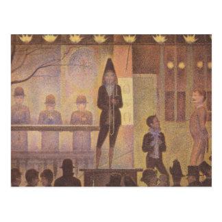 Numéro de cirque de cirque par Georges Seurat Carte Postale