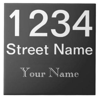 Numéro de maison personnalisé grand carreau carré