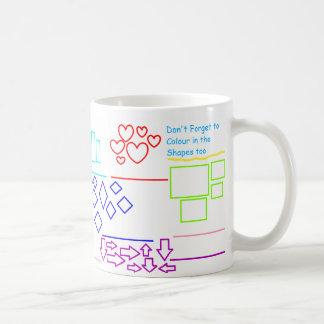 """""""Numérotez les formes colorent alors"""" la tasse"""