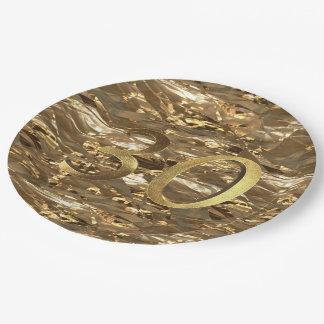 Nummer 30 het 30ste Goud van het Jubileum van het Papieren Bordje