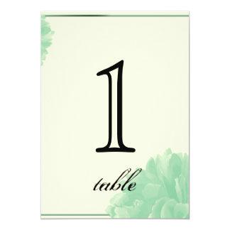 Nummer van de Lijst van het Jubileum van de Pioen 12,7x17,8 Uitnodiging Kaart