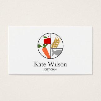 Nutritionniste de diététicien cartes de visite
