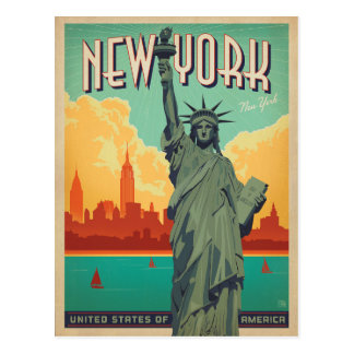 NYC - Madame Liberty Carte Postale