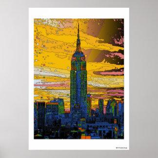 NYC psychédélique : Empire State Building B4